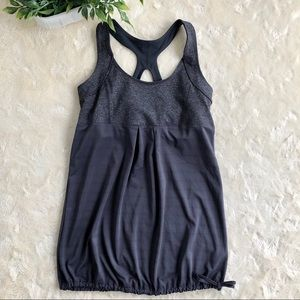 Old navy loose fit gray active bra tank top  small
